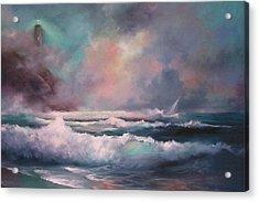 Sailors Plight Acrylic Print by Sally Seago