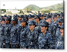 Sailors Yell Before An All-hands Call Acrylic Print
