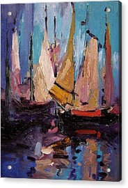 Sails At Dawn Acrylic Print