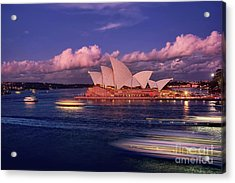 Sails In The Clouds By Kaye Menner Acrylic Print by Kaye Menner
