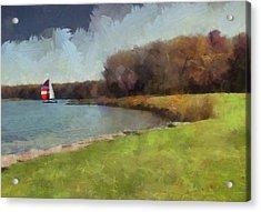 Sails On Lake Wampum Acrylic Print
