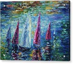 Sails To-night Acrylic Print