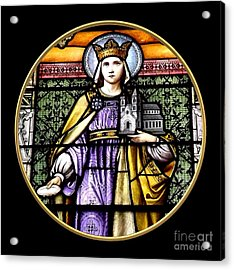 Acrylic Print featuring the photograph Saint Adelaide Stained Glass Window In The Round by Rose Santuci-Sofranko
