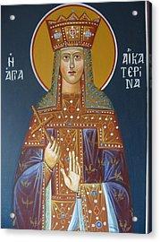 Saint Aekaterina Acrylic Print by George Siaba