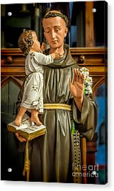Saint Anthony Acrylic Print by Adrian Evans