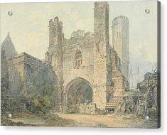 Saint Augustine's Gate Canterbury Acrylic Print by Joseph Mallord William Turner