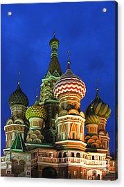 Saint Basil's Cathedral Moscow  Acrylic Print by Karin Ubeleis-Jones