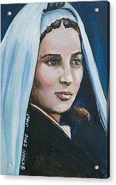 Saint Bernadette Soubirous Acrylic Print by Bryan Bustard