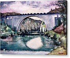 Saint Bridge Acrylic Print by Geni Gorani