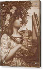 Saint Cecilia Acrylic Print by Henry Ryland