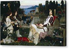 Saint Cecilia Acrylic Print by John William Waterhouse