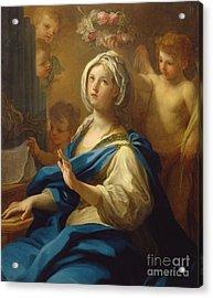 Saint Cecilia Acrylic Print by Sebastiano Conca