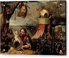 Saint Christopher And The Christ Child Acrylic Print
