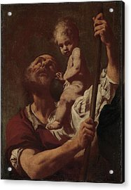 Saint Christopher Carrying The Infant Christ Acrylic Print