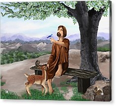 Acrylic Print featuring the painting Saint Francis by Susan Kinney