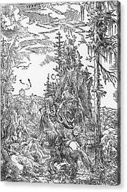 Saint George And The Dragon Acrylic Print by German School