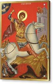Saint George Acrylic Print by Daniel Neculae