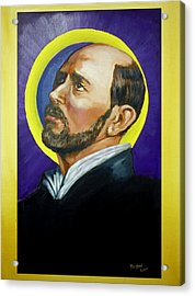 Acrylic Print featuring the painting Saint Ignatius Loyola by Bryan Bustard
