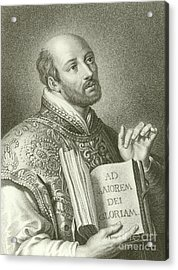 Saint Ignatius Of Loyola Acrylic Print by English School