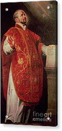 Saint Ignatius Of Loyola Acrylic Print