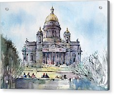 Saint Isaac's Cathedral - Saint Petersburg - Russia  Acrylic Print by Natalia Eremeyeva Duarte