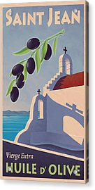 Saint Jean Olive Oil Acrylic Print by Mitch Frey