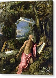 Saint Jerome Acrylic Print by Titian