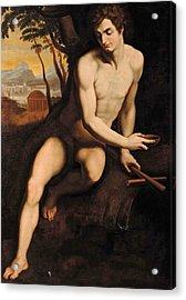Saint John At The Fountain Acrylic Print by Cristofano Allori