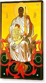 Saint John Coltrane Enthroned Acrylic Print by Mark Dukes