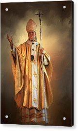 Acrylic Print featuring the photograph Saint John Paul The Second by Donna Kennedy