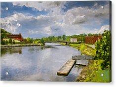 Saint John River Painting Acrylic Print