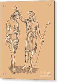 Saint John The Baptist Acrylic Print by Aloysius Patrimonio