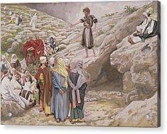 Saint John The Baptist And The Pharisees Acrylic Print by Tissot