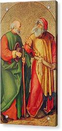 Saint Joseph And Saint Joachim Acrylic Print by Albrecht Durer or Duerer
