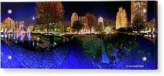 Saint Louis City Garden Panorama Acrylic Print by David Coblitz