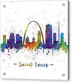 Saint Louis Missouri Color 03sq Acrylic Print