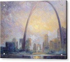 Saint Louis Skyline - Frosty Day Acrylic Print