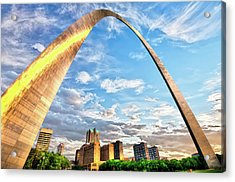 Saint Louis Skyline Morning Under The Arch Acrylic Print
