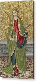 Saint Lucy Acrylic Print by Jaume the younger Vergos
