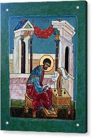 Saint Luke Acrylic Print by Phillip Schwartz