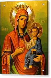 Saint Mary Acrylic Print by Christian Art