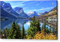 Saint Mary Lake In Glacier National Park Acrylic Print