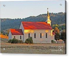 St. Mary's Church At Sunset Acrylic Print