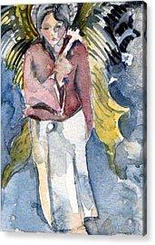Saint Matthew Acrylic Print by Mindy Newman