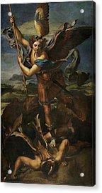 Saint Michael Defeats Satan Acrylic Print
