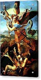 Saint Michael Overthrowing The Demon  Acrylic Print