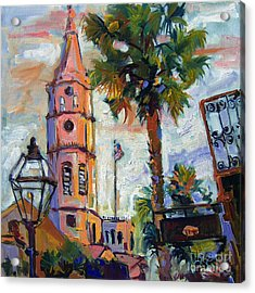 Saint Michaels Church Charleston Sc Oil Painting Acrylic Print