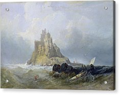 Saint Michael's Mount In Cornwall  Acrylic Print by William Clarkson Stanfield