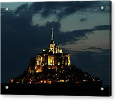 Saint Michel Mount After The Sunset, France Acrylic Print by Yoel Koskas