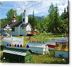Saint Nicholas Orthodox-eklutna Alaska Acrylic Print